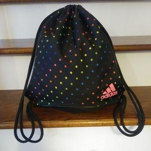 🌸3/$30🌸 Adidas polkadot drawstring rope backpack